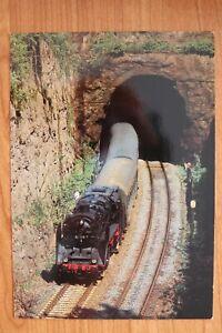 E3) Eisenbahn Zug Eisenach 1993 Damplok 62 1015-7 Personenverkehr Förthaertunnel