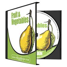 Fruit Vegetables Clipart Vinyl Cutter Plotter Images Eps Vector Clip Art Cd