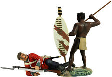 "William Britains Zulu War ""NO QUARTER"" ZULU WARRIOR e 24A FOOT SET 20149 NUOVO"