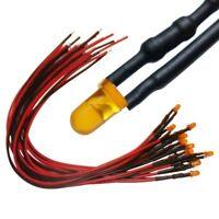S1001 - 10 Stück LEDs 3mm orange diffus mit Kabel / Litze LED für 9-12V