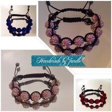 Blue, Red, Pink, Champage Shamballa Bracelet New