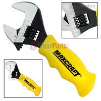 "Maxcraft 60701 Stubby Adjustable Wrench 1"" Jaw Professional Grade Comfort Grip"