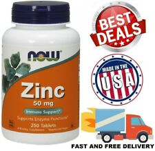 ZINC 50 mg Supports Enzyme Functions Vegetarian Dietary Supplement 250 Tablets