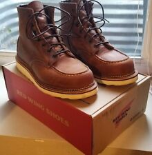"Red Wing Shoes - Men's 1907 Classic Moc 6"" Boot - size 8.5 - Factory 2nds, worn"