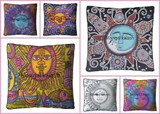 Indian Moon The Square Mandala Floor Pillow Cover Meditation Cushion Cover Throw