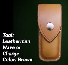 Custom Leather Brown Case/Sheath For The Leatherman Wave/Charge New Closed Top