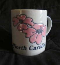 NEW Ceramic NORTH CAROLINA Coffee MUG  Cocoa Drink Vintage Cup Dogwood Blossom