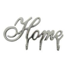 Kleiderhaken Home, Aluminium, Silber, elegant, 3 Haken, 32x4x17 cm, einzigartig