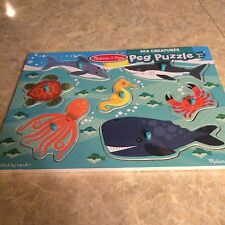 NEW Melissa and Doug peg puzzle Sea Creatures