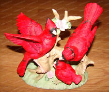 Spring Cardinal's, Red Bird Family (Mic, Taiwain) Porcelain Bisque