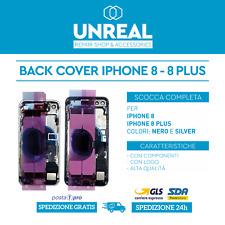 BACK COVER IPHONE 8 e 8 PLUS - SCOCCA TELAIO COMPLETO | SPACE GRAY,NERO,SILVER