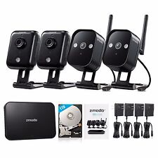 Zmodo Replay 1080p HDMI NVR 4 1.0MP HD IP WiFi Home Security Camera System 1TB