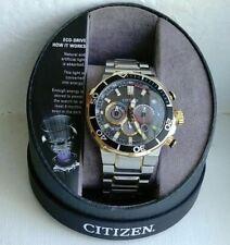 Men's Citizen EcoDrive Chronograph Watch B620-S117020 Two-Tone Band WR200