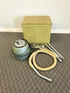 Vintage EUREKA Vacuum Cleaner 800 canister roto matic hose attachments w Box