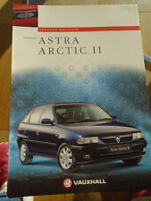 Vauxhall Astra Artic II Special Edition brochure Aug 1997