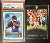 Absolute Mystery Pack Patch Auto Patrick Mahomes Lamar Jackson Rookie PSA 10