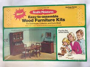 1974 Realife Miniatures Heritage Series Dining Room Wood Furniture Kit 190