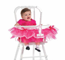 1st Birthday Baby Girl High Chair Decorations Pink Ruffle Bows Little Princess