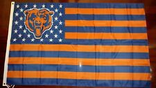 Chicago Bears 3x5 American Flag. US seller. Free shipping within the US