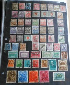 HONGRIE:sur 50 pages d'album:1295 timbres,pas tout sur photos:détails