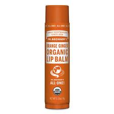 DR BRONNER'S Magic Soaps Organic Lip Balm Orange Ginger 4g Bronners Freepost