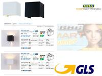 APPLIQUE LAMPADA FARETTO LED IP65 DA ESTERNO DOPPIO LED REGOLABILE DA 6W CUBOTTO