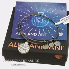 Authentic Alex and Ani Hello Winter Ornament, Metallic Hazel Charm Bangle