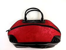 ESSENCE OF BEAUTY WOMENS MAGENTA & BLACK HUGE BAG PURSE TOTE FANTASTIC STYLE