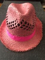 JCrew Crewcuts Youth kids sz L Pink Hat Fedora Sunhat New with tags