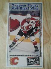 Theo Fleury 97-98 Calgary Flames postcard Rangers Blackhawks Avs Theoren Fleury