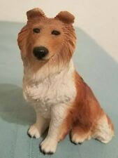 Vintage Collie Dog Figurine Made In Italy