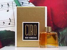 New Horizons Parfum Splash Micro Mini 1.25 Dram By Ciro. Vintage.