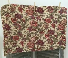 """Antique French Cotton Fabric  Arborescent 19th Century Floral 33.5"""" x 21"""""""