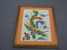 "Vintage Fine Hand Stitched Needlepoint 16"" x 21"" - 22"" x 27""  Framed Flower"