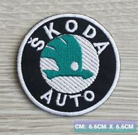 Skoda  Motor logo Embroidered Iron On/Sew On Patch Badge