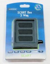 Bandridge VSB7713 3-fach SCART RGB Verteiler Box 1m 3x Buchse 1x Stecker NEU