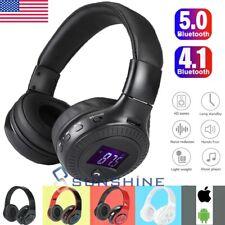 Wireless Bluetooth Stereo Foldable Earphones Super Bass Headphones Headsets Mic