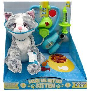 7Pcs Make Me Better Kitten Pet Play Set With Vet Tools Gift For Budding Vet