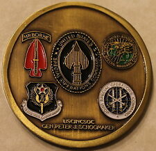 Special Operations Forces Mess Night General Schoomaker Military Challenge Coin