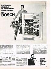 PUBLICITE ADVERTISING   1966   BOSCH   réfrigérateur capacité utile