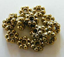 500pcs 4.5mm Metal Alloy Daisy Spacers - Antique Gold