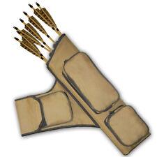 Archery Four Tubes Side/Hip/ Belt Arrow Quiver Faq151 R/H Khaki