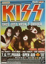 "KISS 1997 ""ONCE JUST WASN'T ENOUGH TOUR"" PRAGUE, CZECH CONCERT POSTER-Group Shot"