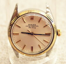 Rolex 5501 Oyster Perpetual Air-King 18k/SS Mens Watch 1977 AS-IS