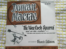 Duncan Macrae The Wee Cock Sparra Sic-Like Craiturs EP Pic/S UK 7inch 45 single
