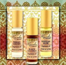 KUUMBA MADE CERTIFIED ORGANIC TRIO FRAGRANCE OIL  SET - PARABEN & ALCOOL FREE