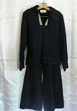 "Vintage US Navy Uniform Wool Sailor Jumper Top 39"" Chest & Pants 30"" Waist"