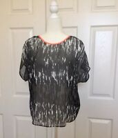 Express Women's Sheer Blouse Top Size Extra Small XS