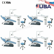 1 4dental Unit Chair Hard Leather Computer Controlled Dc Motor Ampchair Stools Ce