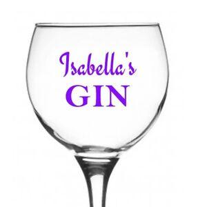 GIN Glass set Vinyl Decal Sticker for wine glass, bottles...
